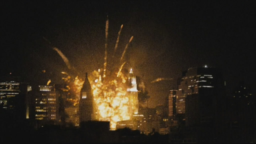 The destruction of New York begins.