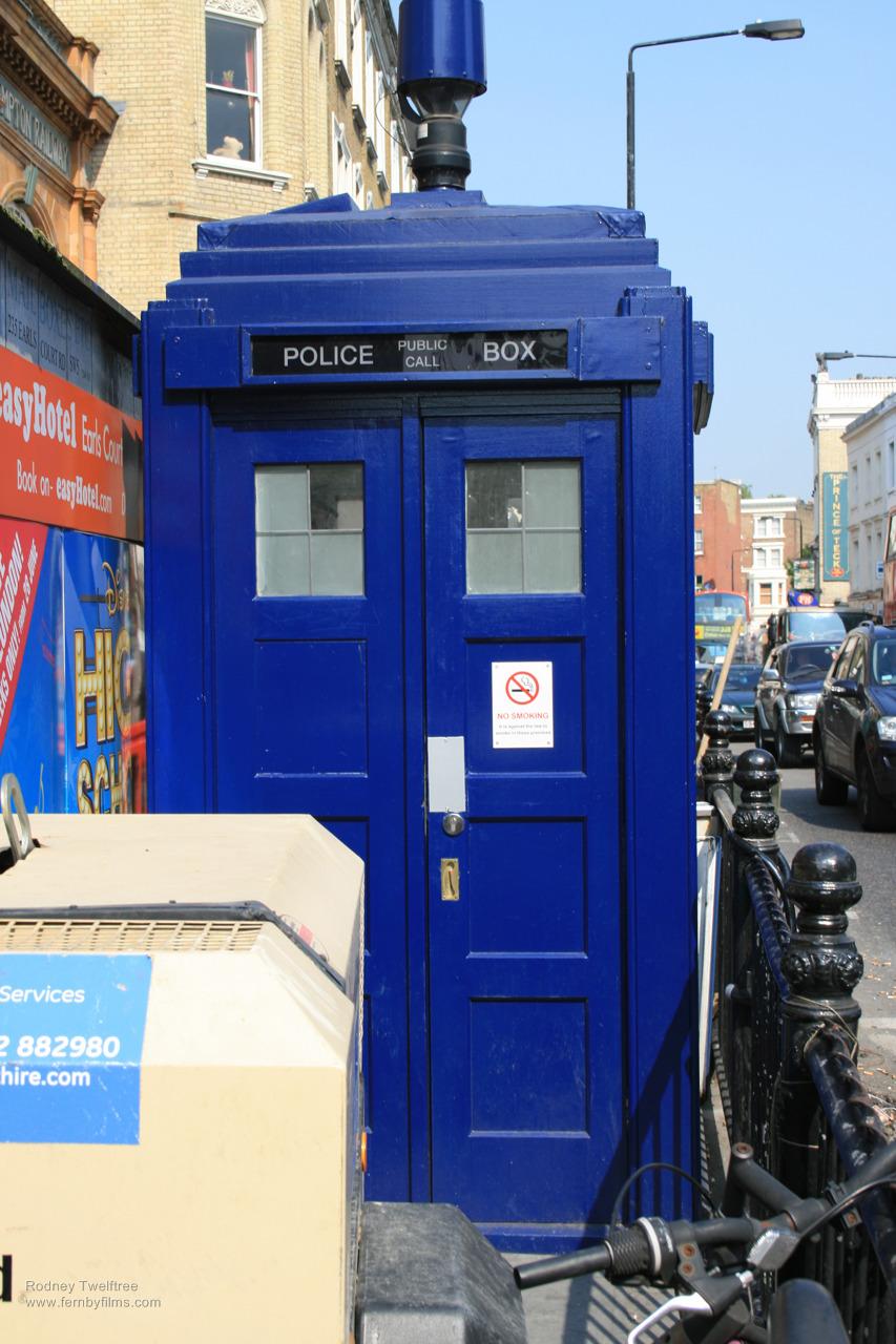 The TARDIS stands proud.