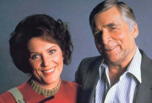 Majel Barret, with her husband and Star Trek creator Gene Roddenberry.