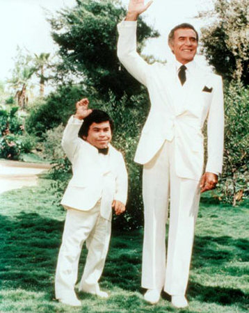 Herve Villechaize & Richardo Montalban in Fantasy Island, perhaps his most iconic role.