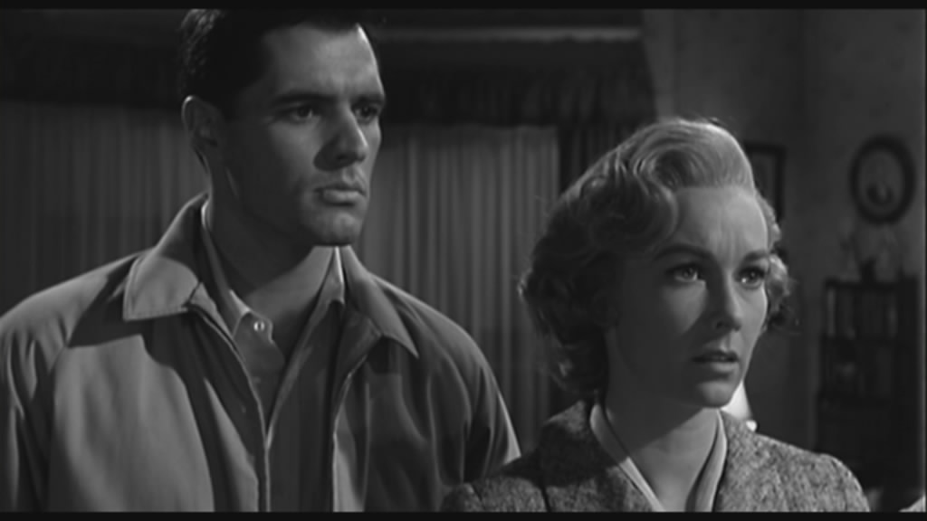 John Gavin (Loomis) and Vera Miles (Lila Crane)