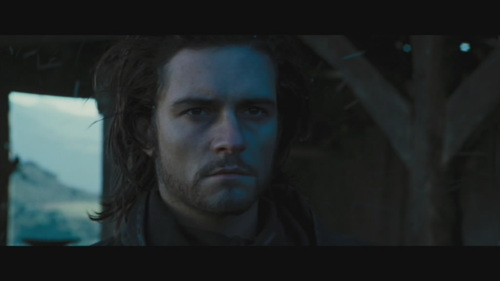 Orlando Bloom as Balian. Square jaw and all....