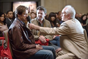Jim Carrey, John Michael Higgins, and Terrence Stamp in a bonding session.