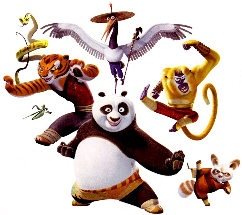 The cast of Kung Fu Panda