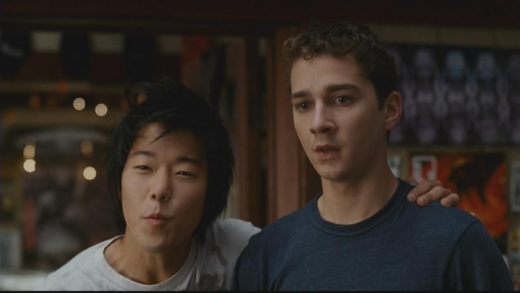 Shia LaBeouf and Aaron Yoo take the mickey.