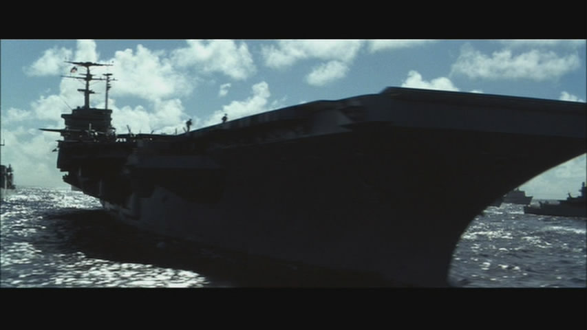 Michael Bay always puts an aircraft carrier in his films. And it's always cool.