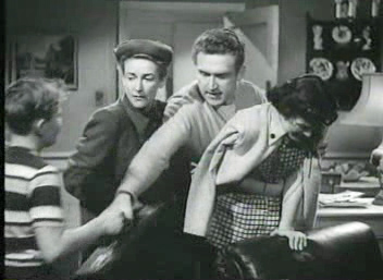 Whitfield (centre) in the film The Next Voice You Hear (1950)