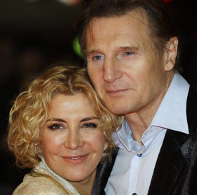 Natasha Richardson & husband, actor Liam Neeson.