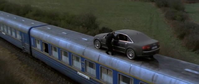 Cars on trains. What's next, snakes on planes?