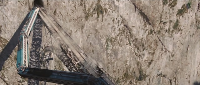 Train off a bridge. Breathtaking.