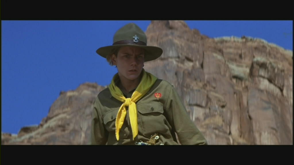 River Phoenix as a young Indiana Jones.