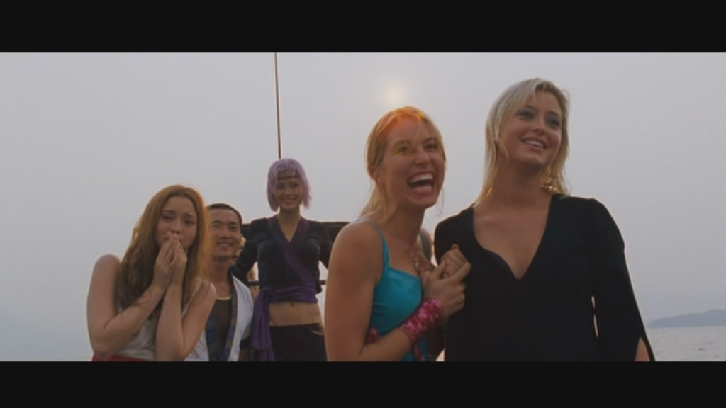 Perfect ending to a film: bunch of near-naked women in a boat.