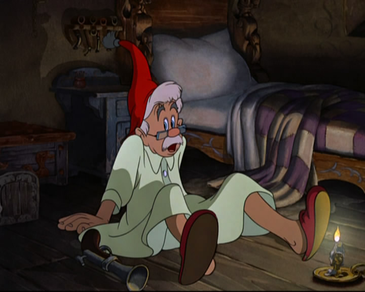 Geppetto was stunned to find himself sitting on the floor...