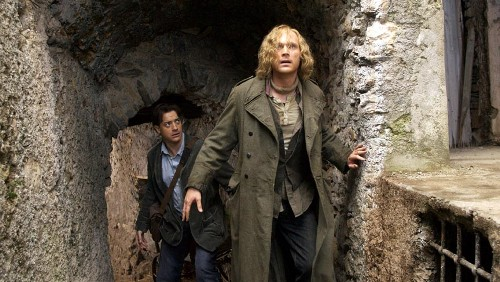 Brendan Fraser & Paul Bettany do their thang...