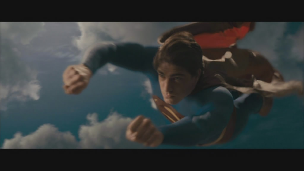 Superman flies into action.
