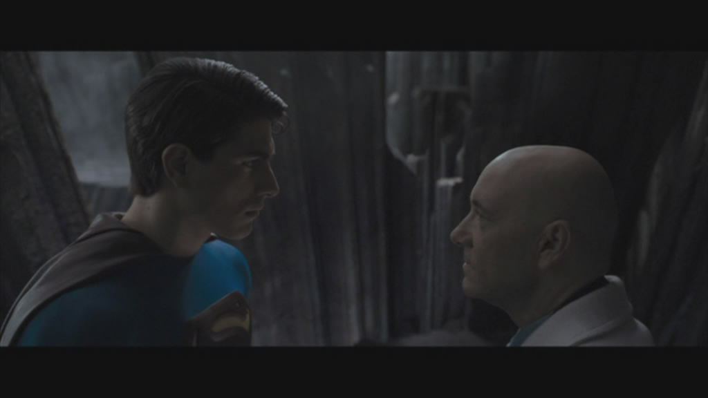 Showdown between Superman and Lex Luthor.