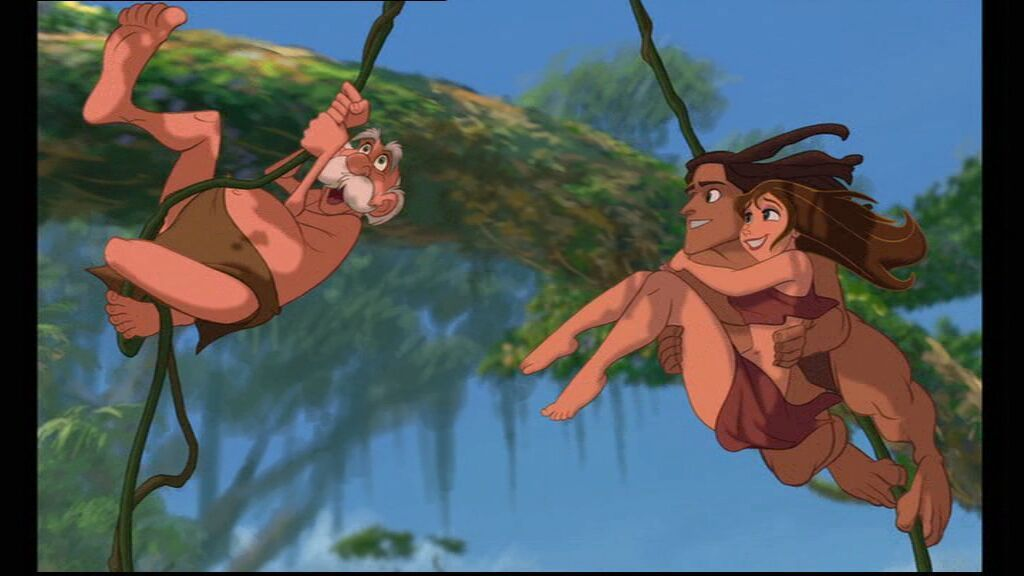 Movie review tarzan 1999 fernby films for Professor archimedes q porter
