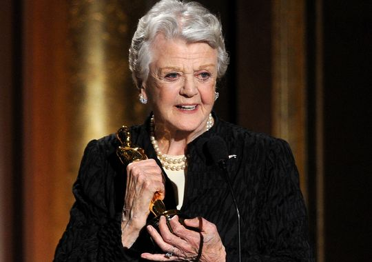 """Angela Lansbury - Actress, """"""""for her extravagant achievements in cinematic industry of her career of 75 years..."""""""