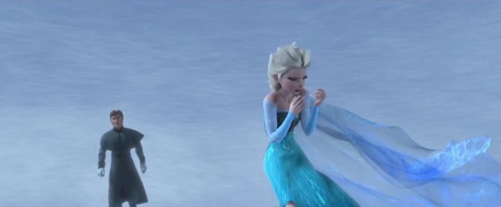 Elsa was hopeless at outdoor charades.