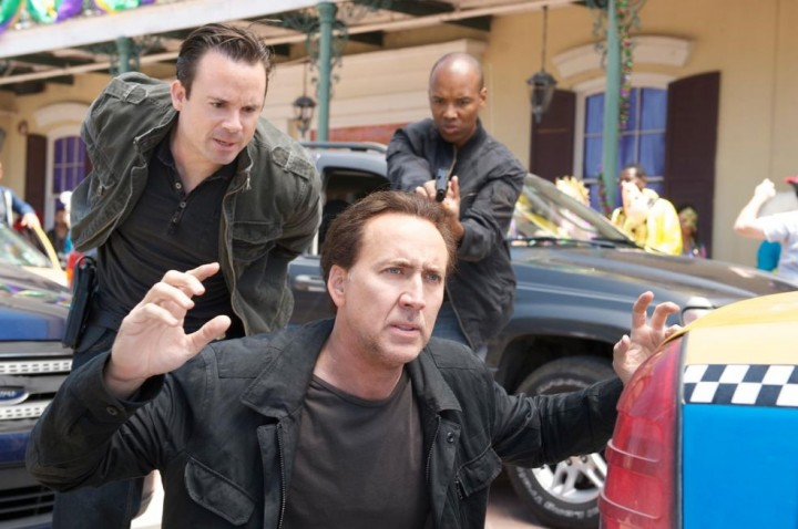 Mr Cage? We're arresting you for crimes against cinema. Hope you like jail rape.