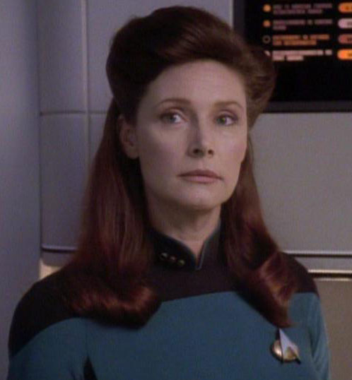 Wendy Hughes as she appeared in Star Trek: The Next Generation.