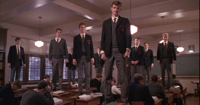Yeah, there's lots of standing on desks in this movie.