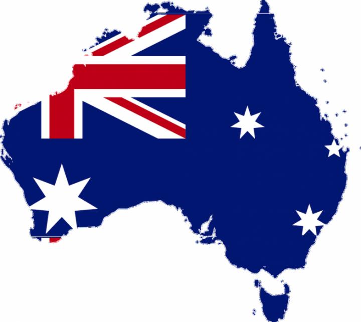 australia flag map 720x642 Top 3 Blockbuster Movies Filmed In Australia