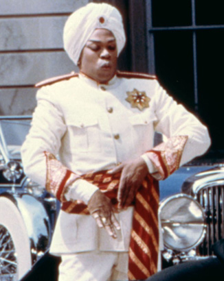 Mr Holder as Punjab in 1982's Annie.