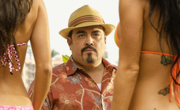 Not from Annie, here's a random picture of David Zayas checking out two girls' boobs.