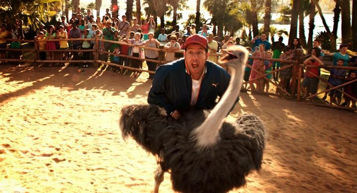Yep. Sandler f@cks an ostrich.