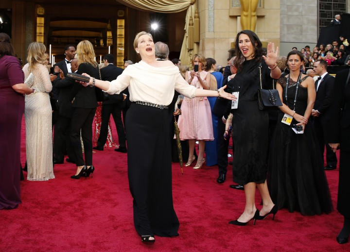 Streep, obviously expecting to win. ;)