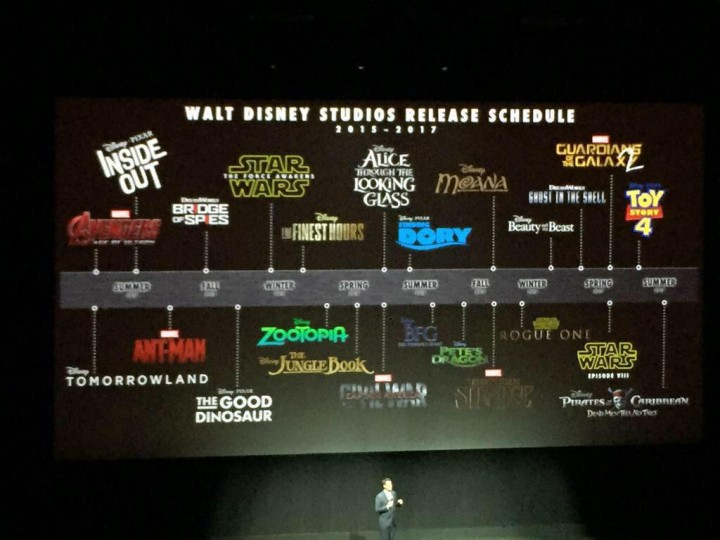 The next few years look busy at Disney....