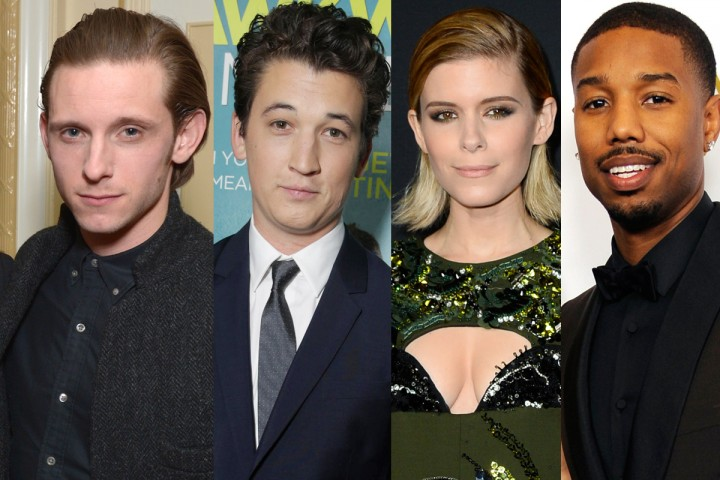 The cast of 2015's Fatnastic Four - Jamie Bell, Miles Teller, Kate Mara and Michael B Jordan.