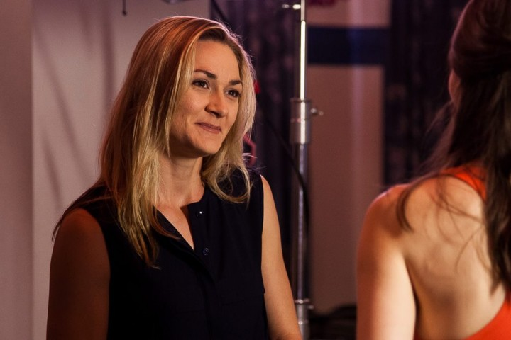 Julia Billington, pictured here on set with Lauren Orrell, will appear in the next seasons of Starting From Now.