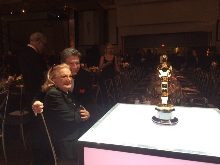 Gina Rowlands, together with husband and film director John Cassavetes, attending the 2015 Academy Governor's Awards.