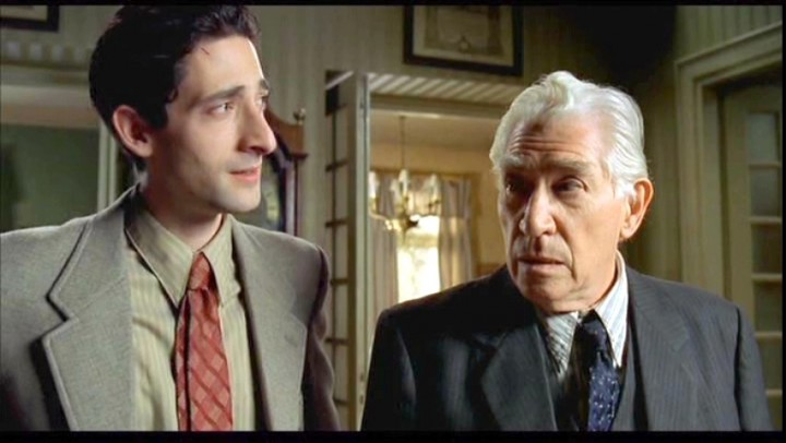 Adrian Brody and Frank Finlay in a scene from 2002's The Pianist, directed by Roman Polanski.