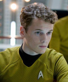 Anton Yelchin as Pavel Chekov in 2009's Star Trek, directed by JJ Abrams.