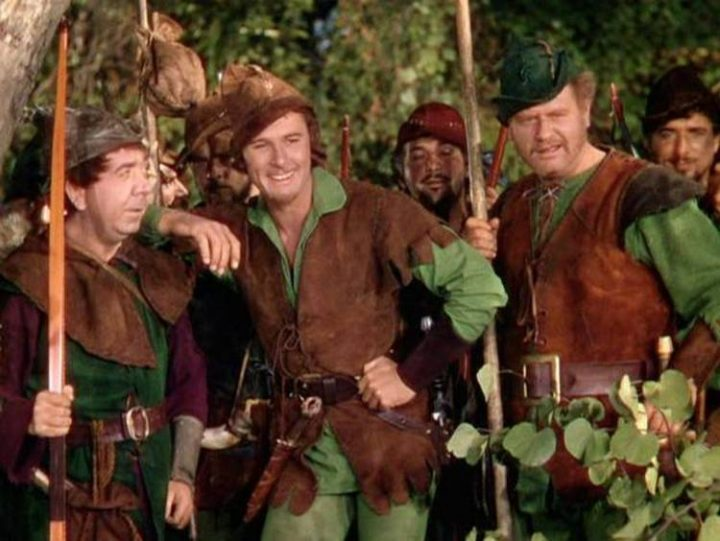 Errol Flynn (centre) in 1938's The Adventures Of Robin Hood.