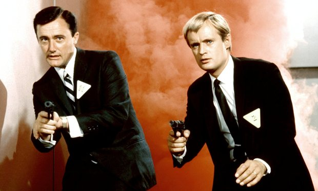 Robert Vaughn (L) with David McCallum (R) in The Man From UNCLE.