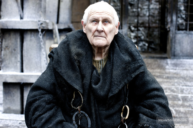 Peter Vaughan as he appeared in Game Of Thrones...
