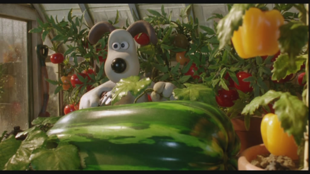 Gromit hated vegetable soup, but he loved his vegetables large.