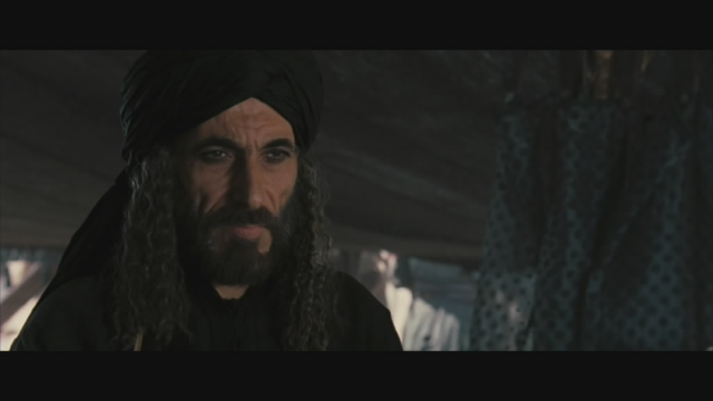 Ghassan Massoud as Saladin, the chief foe for the Christian forces.