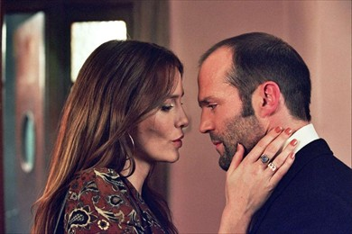 Martine (Saffron Burrows) and Terry get a little cosy.