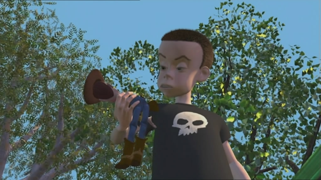 Sid, the evil kid next door. Karma is a bitch.