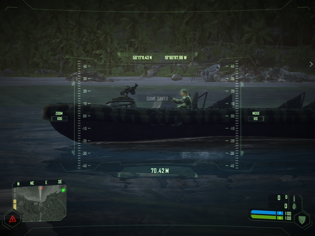 Using your binoculars to scan for the enemy.
