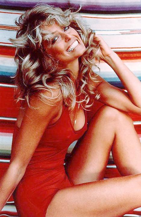 Fawcett's famous swimsuit photo.