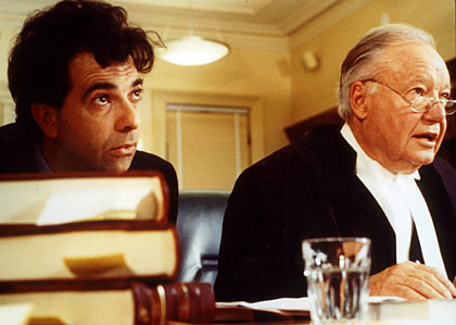 Bud Tingwell (right) in a scene from 1997's The Castle.