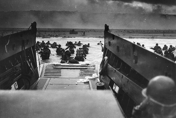 Landing on Omaha Beach, 1944.