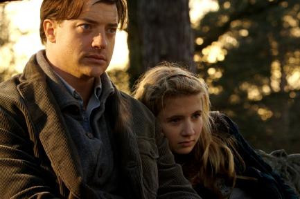 Brendan Fraser and Eliza Bennett.