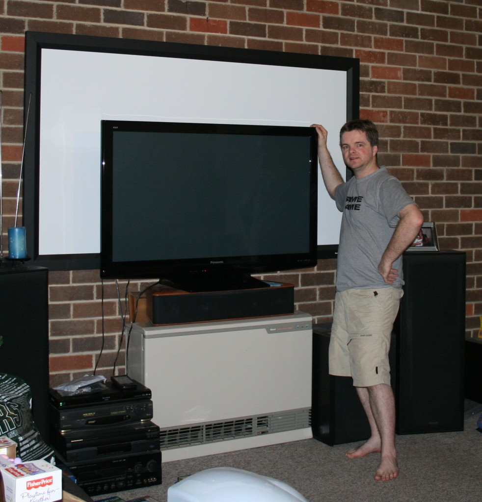 Rodney posing in front of new equipment....